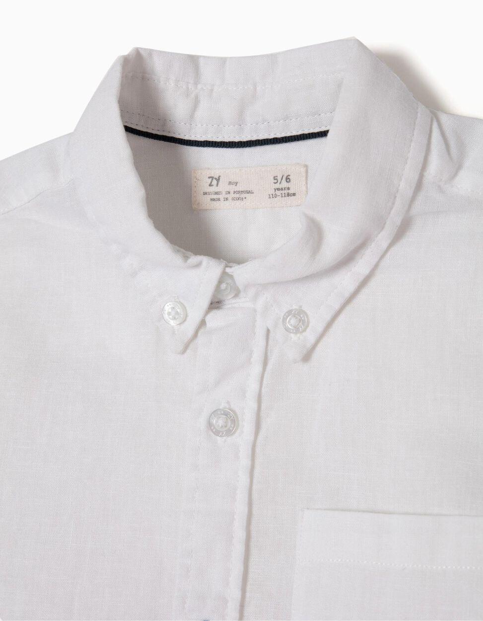 Camisa de Linho Branca