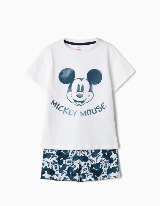 Pyjamas for Boys 'Mickey', White e Blue