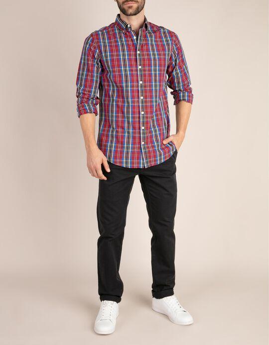 Regular Fit Plaid Shirt