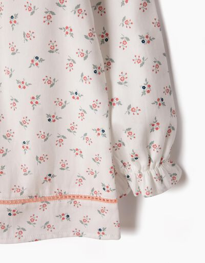 Blusa Fluida Sarja Flores