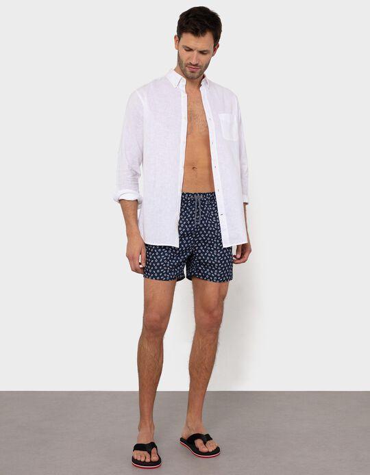 Swim Shorts, Buoys Pattern, for Men
