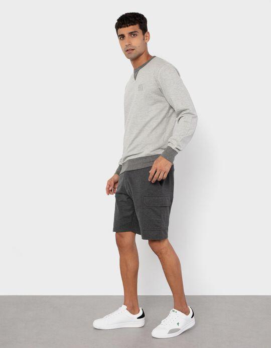 Fleece Shorts for Men, Grey
