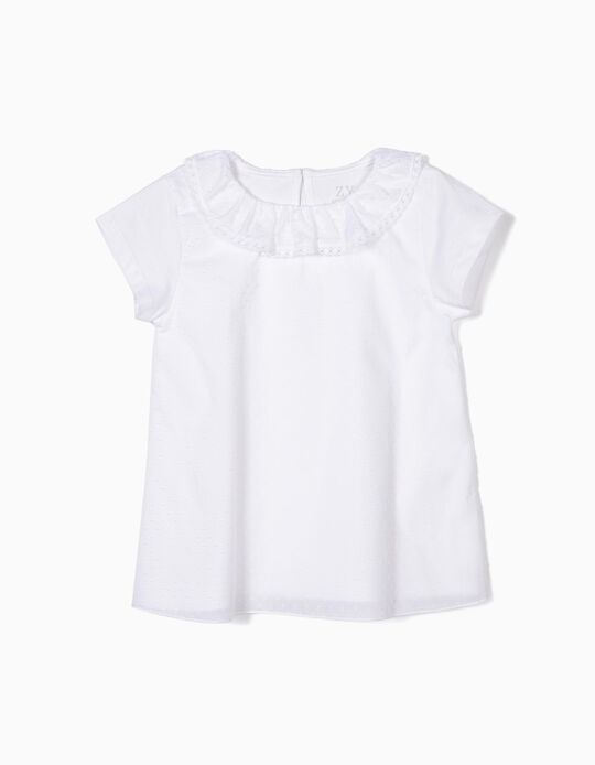 Dobby T-shirt for Girls, White