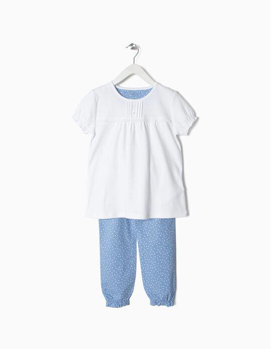 Pijama de algodão e popeline