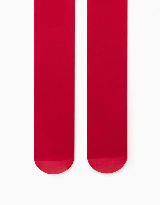 Plain Tights for Girls, Red