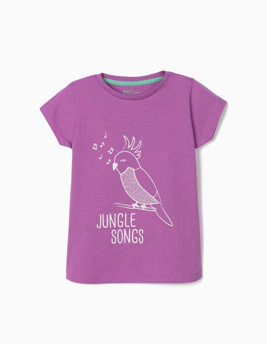 T-shirt para Menina, 'Jungle Songs'