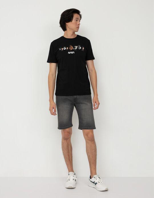 NASA Print T-shirt, Men, Black