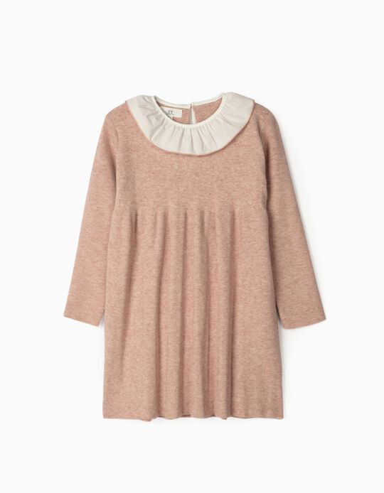 Knit Dress with Ruffles for Girls, Pink