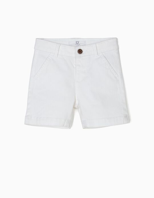 Shorts for Baby Boys, White