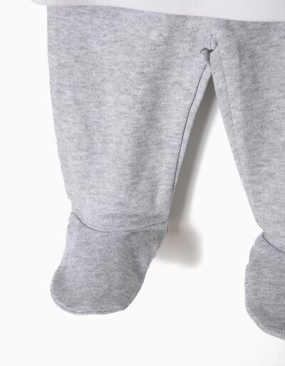 Pijama Manga Comprida e Calças com Pés Dino