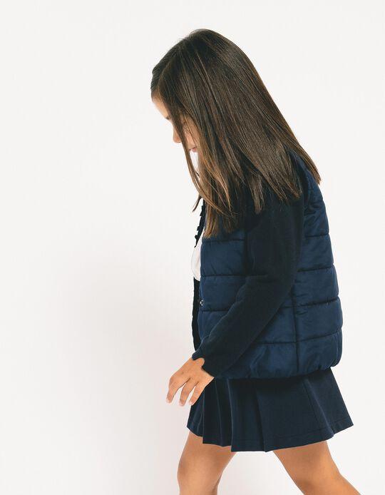 Saia de Pregas para Menina, Azul Escuro