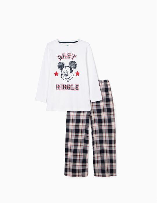 Pijama para Menino 'Mickey', Branco/Vermelho/Azul