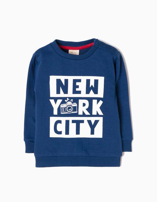 Blue Sweatshirt, NYC
