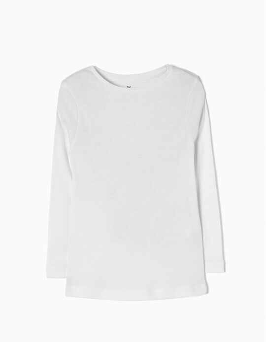 Long-Sleeved Top, White