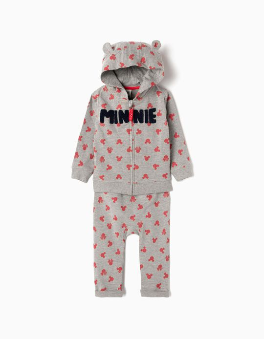Tracksuit for Baby Girls 'Minnie', Grey