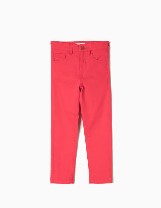 Twill Trousers, Red