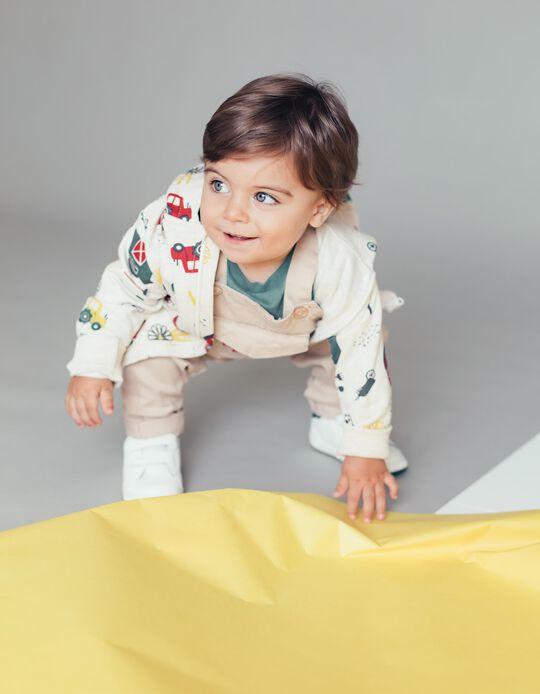 Hooded Jacket for Baby Boys 'Farm', Beige
