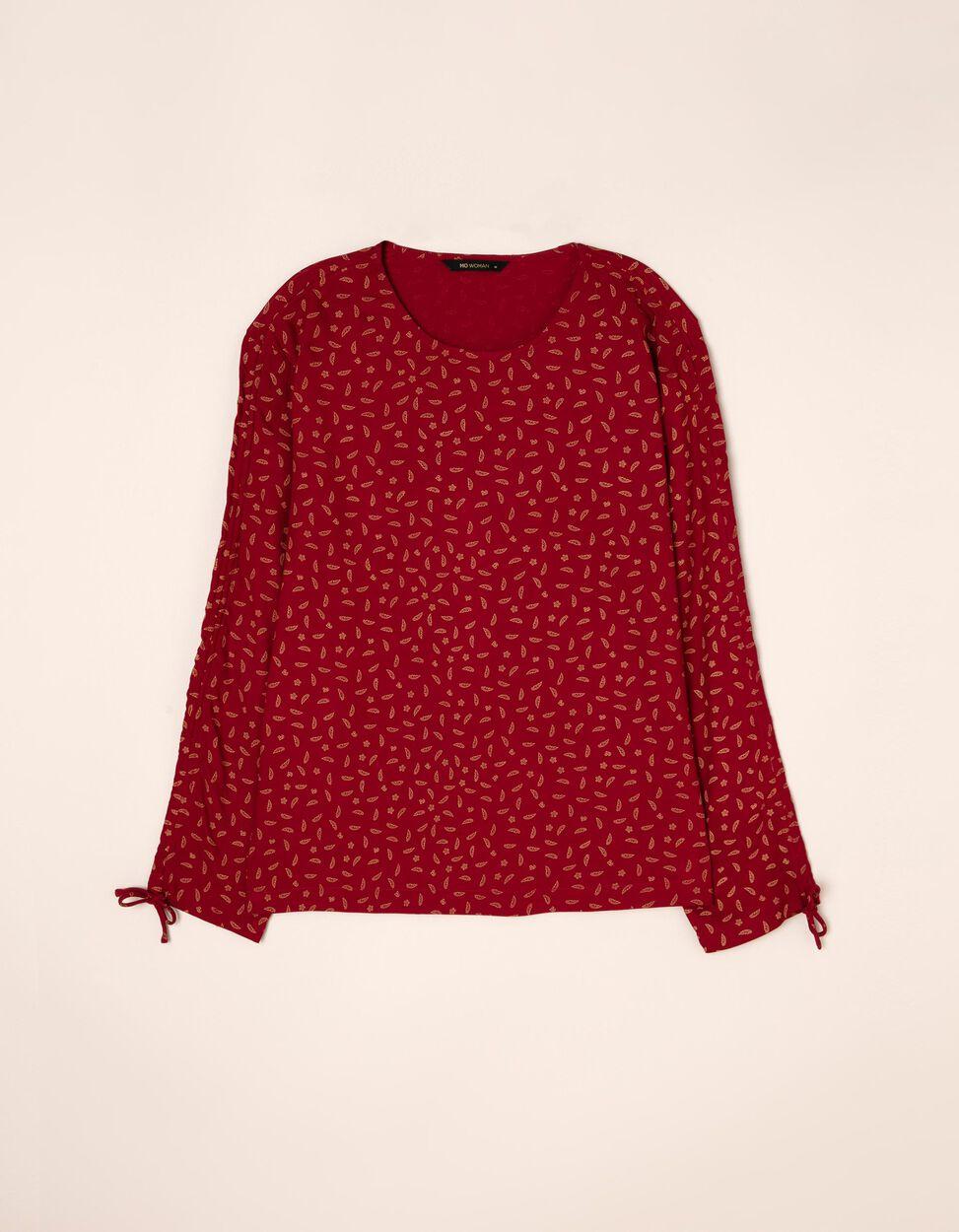 Blusa lisa com manga ajustável