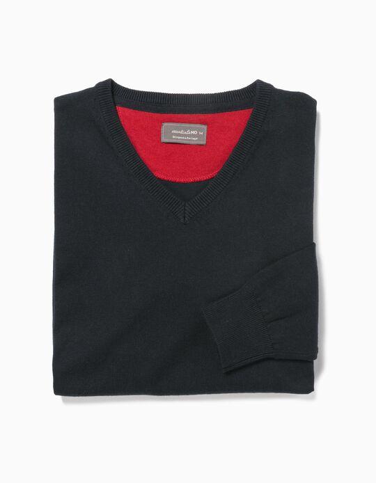 Camisola Malha Essentials Decote em Bico