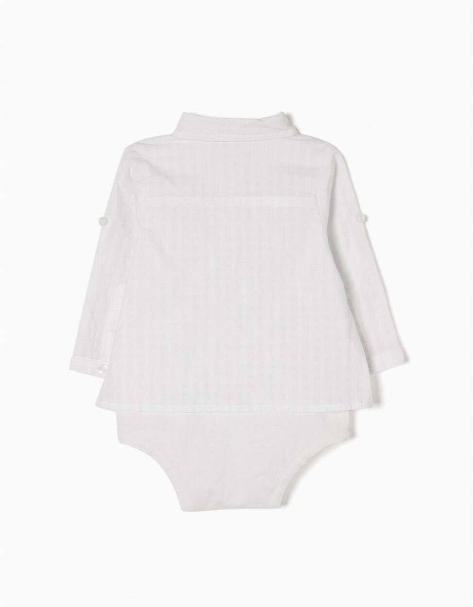 Body-Camisa Combinado Branco