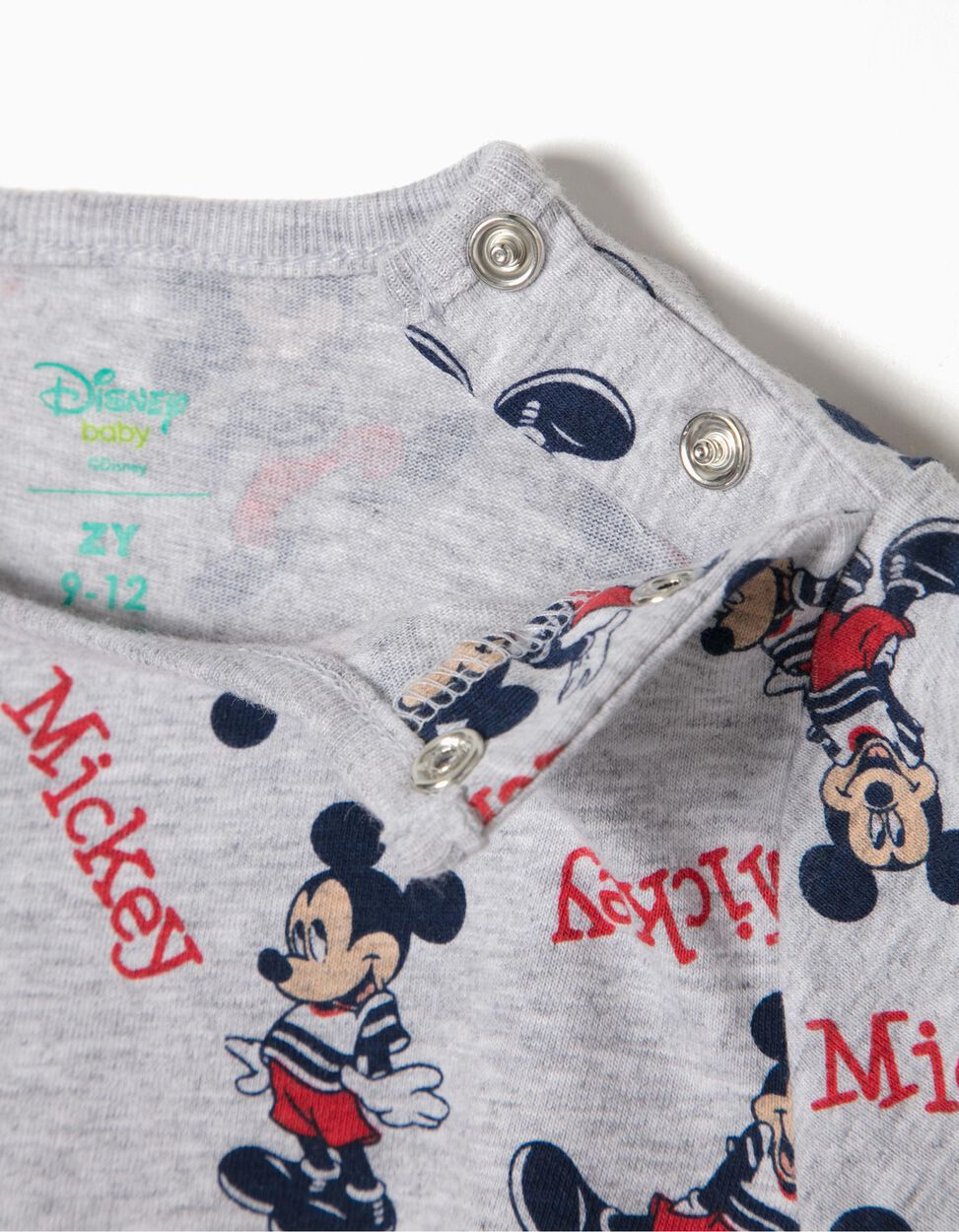 Babygrow Manga Curta Mickey