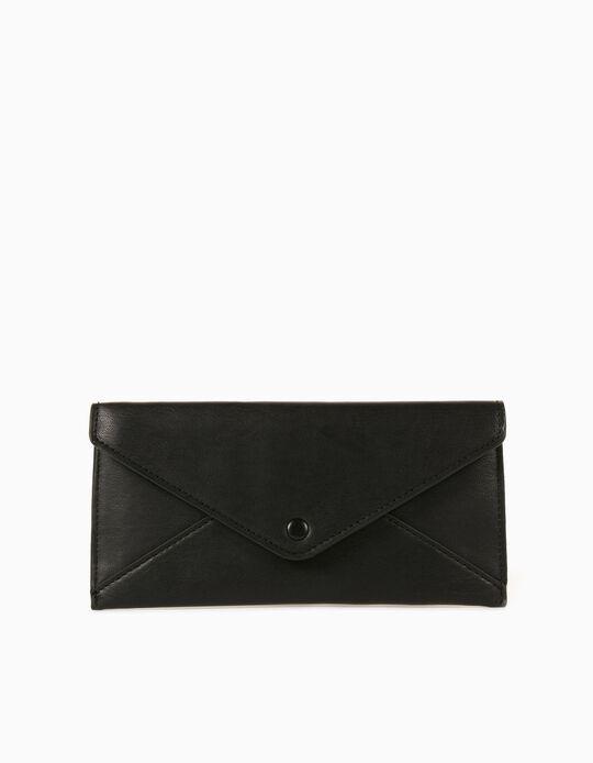Plain Wallet for Women, Black