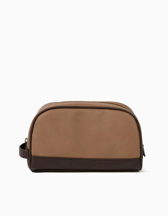 Leather-Effect Toiletry Bag, for Men