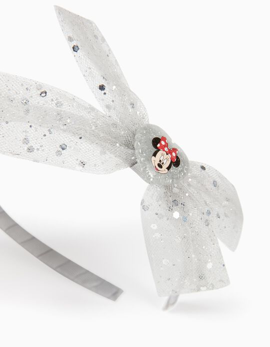 'Minnie Mouse' Headband with Bow, for Girls, Silver