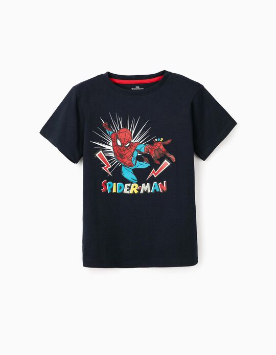 T-Shirt para Menino 'Spider-Man', Azul Escuro