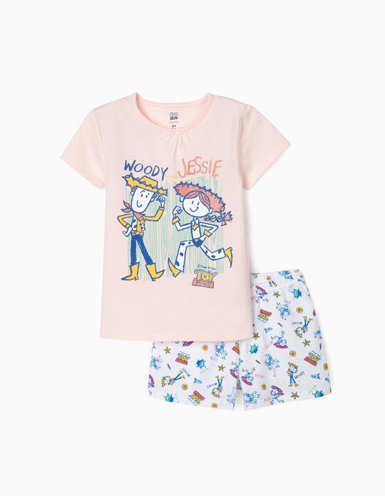 Pijama para Menina 'Toy Story', Rosa/Branco
