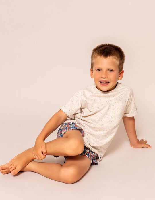 T-shirt with Pocket, for Boys, Beige