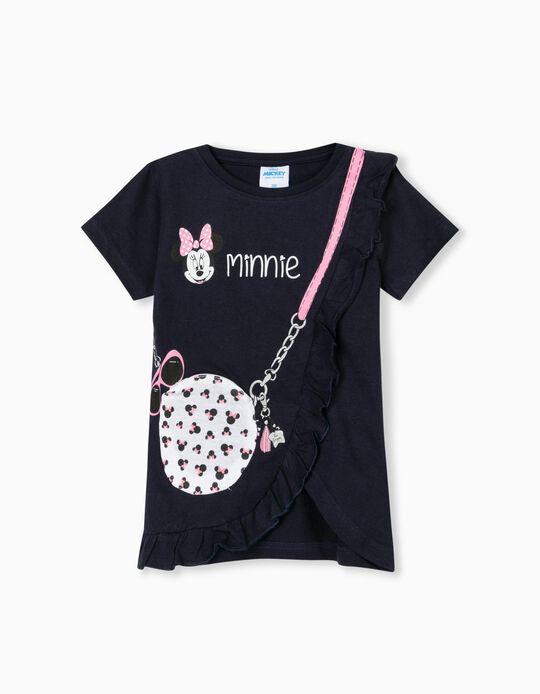 Minnie' T-shirt for Girls, Dark Blue