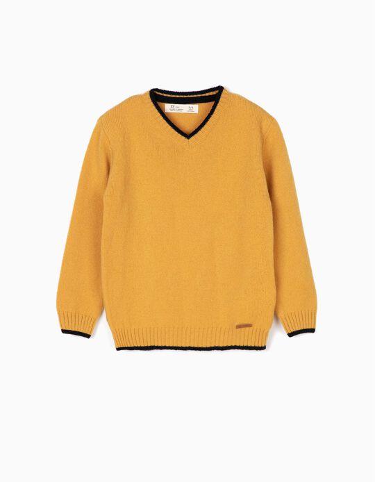 Camisola Lã Amarela