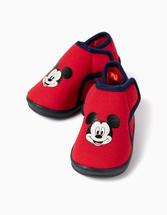 Pantufas para Bebé Menino 'Mickey Christmas', Vermelho
