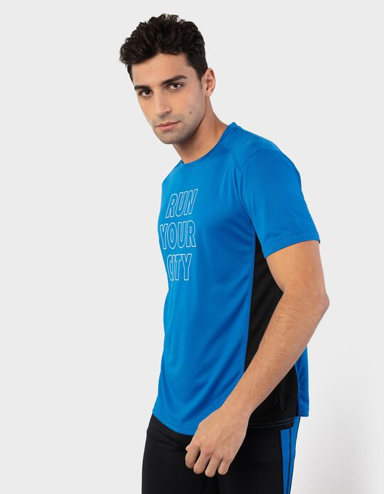 T-shirt with Breathable Panels on the Sides