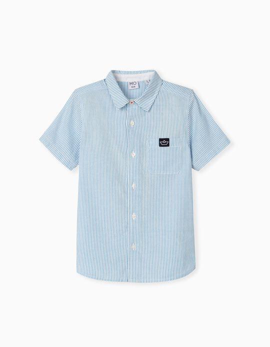 Camisa às Riscas, Menino, Azul