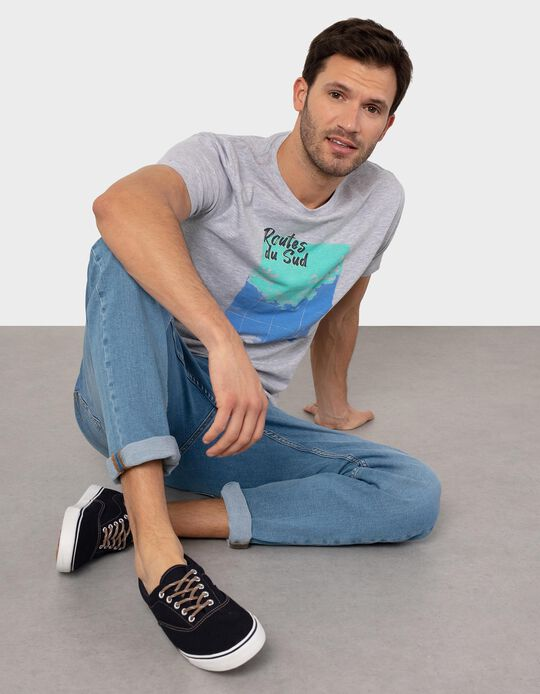 Slim Leg Stretch Jeans, for Men