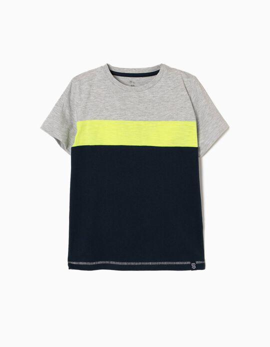T-shirt Risca Amarela