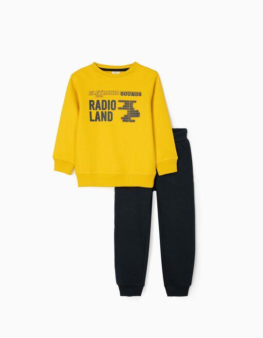 Fato de Treino para Menino 'Radioland', Amarelo/Azul Escuro