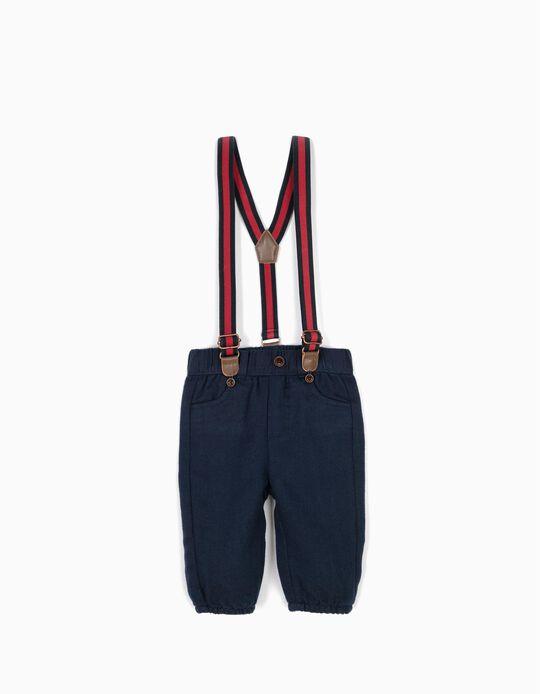 Calças Azuis com Suspensórios