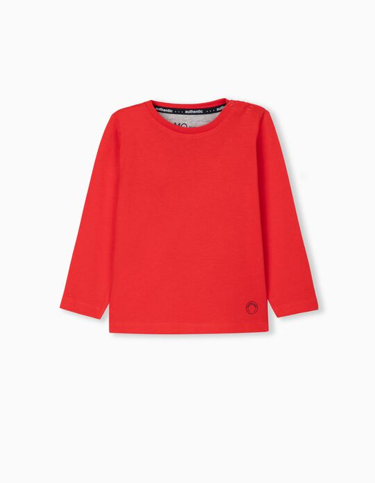 Long Sleeve Top for Baby Boys, Red