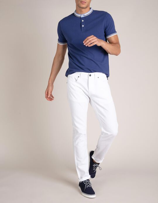 Mandarin Collar Polo Shirt