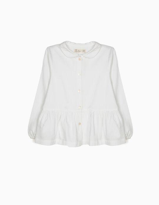 Blusa Branca com Folho
