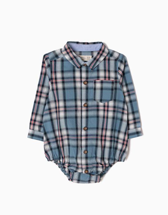 Body-Camisa Xadrez Azul