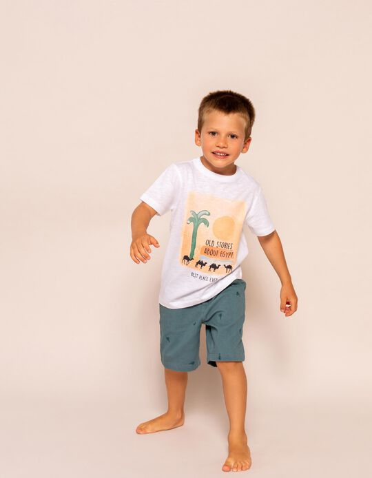 T-shirt for Boys, 'Stories About Egypt', White