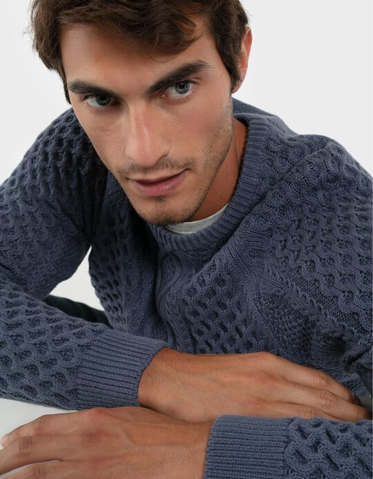 Cable Knit Jumper in 100% Cotton
