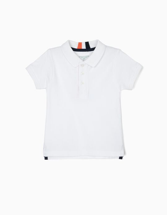 'B&S' Polo Shirt for Baby Boys, White