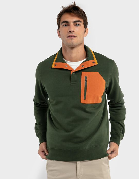 Sweatshirt with contrasting pocket