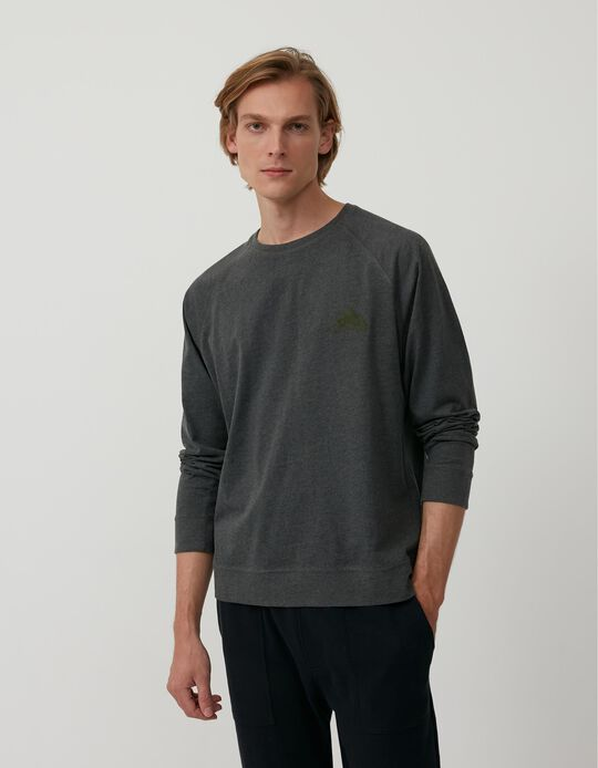 Long Sleeve Top, Men, Grey