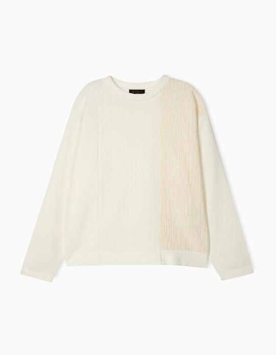 Dual Fabric Sweatshirt, for Women